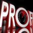 Profit Word Speedometer Improve Sales Increase Revenue — Stock Photo