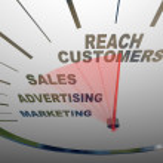 Reach Customers Speedometer Marketing Advertising Sales — Stock Photo #11469773