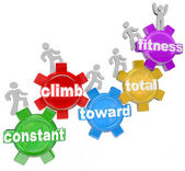 Constant Climb Toward Total Fitness Walking — Stock Photo