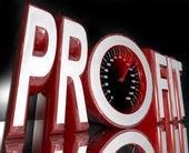 Profit Word Speedometer Improve Sales Increase Revenue — Stock Photo