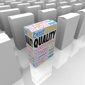 Quality Box Stands Out Best Product Among Many Competitors — Stock Photo