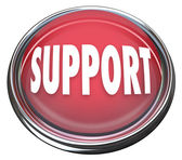 Support Red Round Button Get Help Answers to Questions — Stock Photo