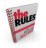 The Rules Book Official Rule Manual Directions — Stock Photo