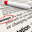 Adapt Dictionary Word Definition Change to Survive - Stock Photo