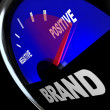 Brand Gauge Measuring Identity Loyalty Response Impression — Stock Photo