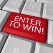 Enter to Win Contest Drawing Raffle Lottery Computer Key — Stockfoto