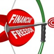 Stock Photo: Financial Freedom Independence Bow Arrow Target Goal