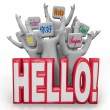 Hello Greeting in Different International Languages — Stok fotoğraf
