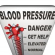 Hypertension Blood Pressure Elevated Dangerous Level - Foto Stock