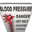 Hypertension Blood Pressure Elevated Dangerous Level — Stockfoto