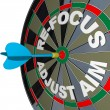 Refocus Adjust Aim Dartboard Improve Success - Stock Photo