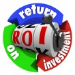 ROI Return on Investment Slot Machine Words Acronym — Stockfoto #11836169