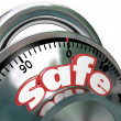 Safe Combination Lock Peace of Mind — Stock Photo