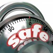 Stock Photo: Safe Combination Lock Peace of Mind