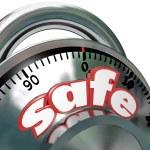 Safe Combination Lock Peace of Mind — Stock Photo