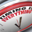 Timing is Everything Words on Clock Punctual Speed — Foto de Stock