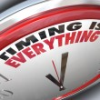Timing is Everything Words on Clock Punctual Speed - Stock Photo