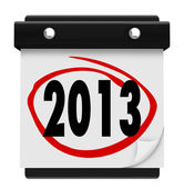 2013 New Year Date Day on Calendar Holiday Schedule — Stock Photo