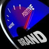 Brand Gauge Measuring Identity Loyalty Response Impression — Stock Photo