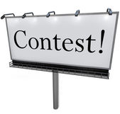 Contest Word on Billboard Raffle Drawing Lottery — Stock Photo