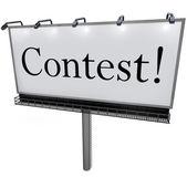Contest Word on Billboard Raffle Drawing Lottery — Stock Photo