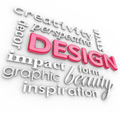 Design Words Collage Creative Perspective Style — Stock Photo