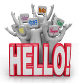 Hello Greeting in Different International Languages — Stock Photo
