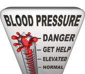 Hypertension Blood Pressure Elevated Dangerous Level — Foto de Stock