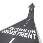 Návratnost investic silnici vedoucí k zlepšení růstu — Stock fotografie