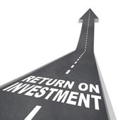 Return on Investment Road Leading Up to Improvment Growth — Stockfoto