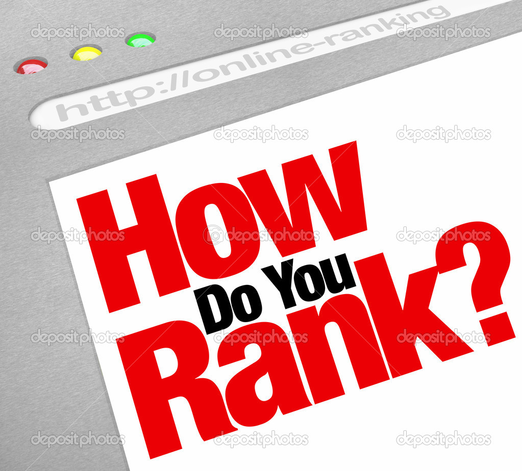 How Do You Rank question on a webscreen asking how highly you appear in rankings on search engine results — Stock Photo #11836028