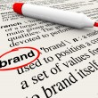 Brand Definition Word Dictionary Marketing Awareness - Stock Photo