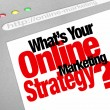 What's Your Online Marketing Strategy Website Screen Plan — Stok fotoğraf