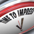 Time to Impress Clock Good Impression Persuasion - Stockfoto