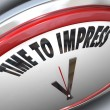 Time to Impress Clock Good Impression Persuasion - Foto Stock