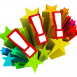 Exclamation Points Starburst Excitement Surprise — Foto Stock