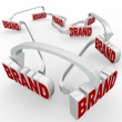 Brand Reinforced Connected Advertising Marketing — Stock Photo