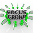 Focus Group Marketing Discussion Opinions Survey - Stock Photo