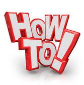 Hoe woorden advies instructies een probleem oplossen — Stockfoto