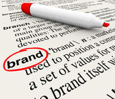 Brand Definition Word Dictionary Marketing Awareness — Stock Photo
