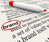 Brand Definition Word Dictionary Marketing Awareness — Stock Photo