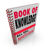 Book of Knowledge Learn Expertise Wisdom Intelligence — Stock Photo