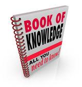 Livro do conhecimento aprender inteligência de sabedoria de experiência — Foto Stock