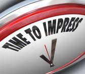 Tijd om te imponeren klok goede indruk overtuigingskracht — Stockfoto
