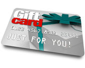 Gift Card Shopping Merchandise Plastic Credit Charge — 图库照片