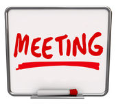 Meeting Word Dry Erase Board Discussion Meet-Up — Stock Photo