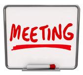 会議の単語ドライ消去ボード ディスカッション ミートアップ — ストック写真