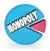 Monopoly Pie Chart Market Leader Unfair Competition — Stock Photo