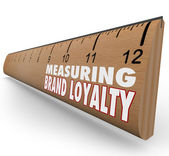 Measure Your Brand Loyalty Ruler Marketing Strength — Stock Photo