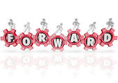 Forward Team Marching Walking Progress Movement — Stock Photo